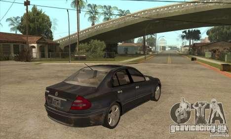 Mercedes-Benz E500 2003 для GTA San Andreas вид справа