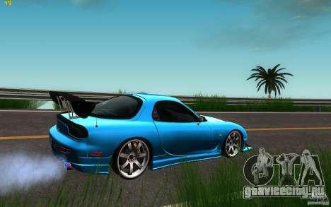 Mazda Rx7 C-West для GTA San Andreas вид сзади слева