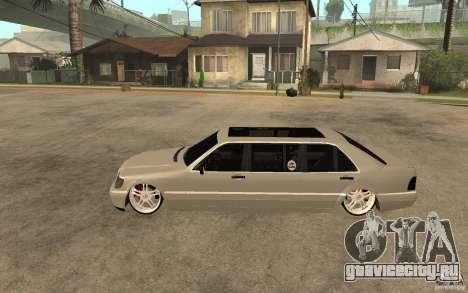 Mercedes-Benz S600 V12 W140 1998 VIP для GTA San Andreas вид слева