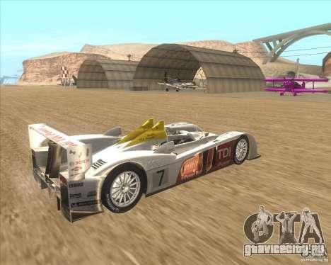 Audi R10 TDI для GTA San Andreas вид сзади слева