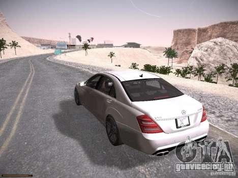 Mercedes Benz S65 AMG 2012 для GTA San Andreas вид сзади слева