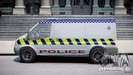 Ford Transit Polish Police [ELS] для GTA 4 вид слева