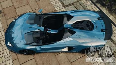 Lamborghini Aventador J 2012 v1.2 для GTA 4 вид справа