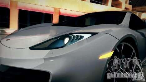 McLaren MP4-12C 2012 для GTA San Andreas вид справа