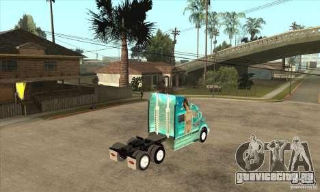 Peterbilt 387 скин 4 для GTA San Andreas вид сзади