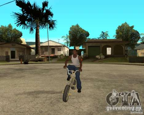 WideWheel-BMX 1 LOUIS VUITTON Version для GTA San Andreas вид сзади