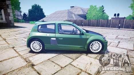 Renault Clio V6 для GTA 4 вид сбоку