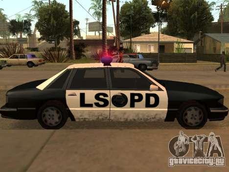 Police Los Santos для GTA San Andreas вид справа