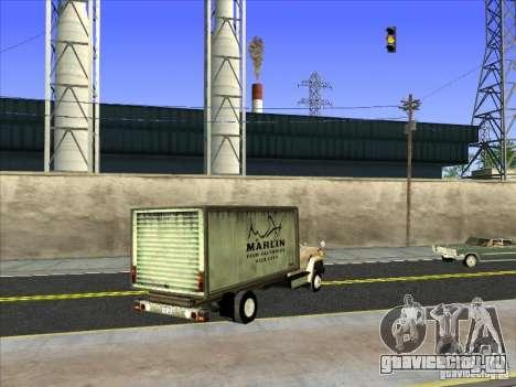 Yankee на базе GMC для GTA San Andreas вид сзади слева