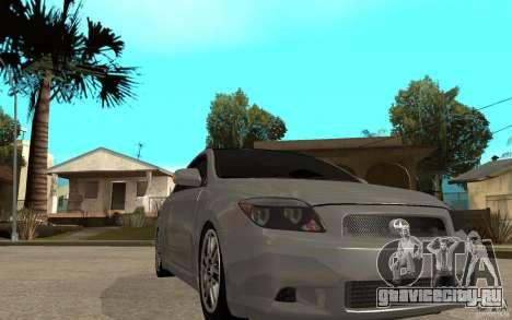 Scion tC - Stock для GTA San Andreas вид сзади