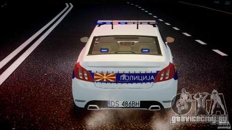 Peugeot 508 Macedonian Police [ELS] для GTA 4 салон