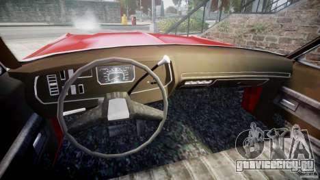 Dodge Monaco 1974 для GTA 4 вид изнутри