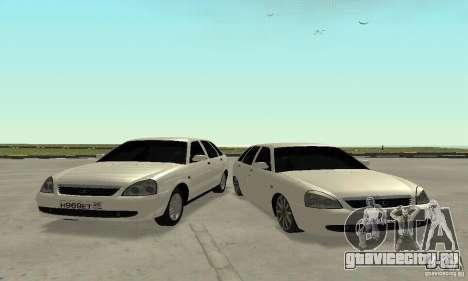 Lada Priora Hatchback для GTA San Andreas вид сбоку