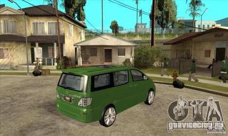 Toyota Alphard Hybrid для GTA San Andreas вид справа