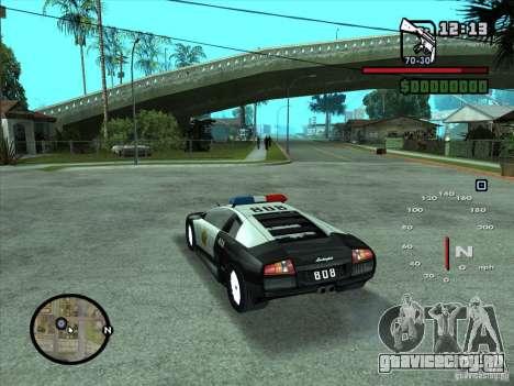 Lamborghini Murcielago Police для GTA San Andreas вид слева