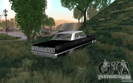 Chevrolet Impala 4 Door Hardtop 1963 для GTA San Andreas вид сзади