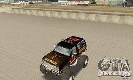 Chevrolet Blazer K5 Monster Skin 4 для GTA San Andreas вид слева
