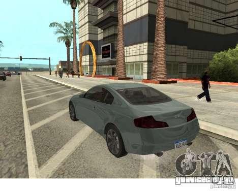 Infiniti G35 Coupe для GTA San Andreas вид слева