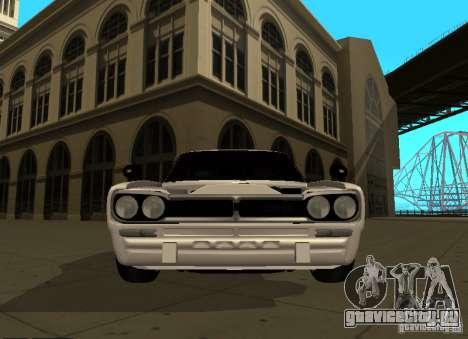 Nissan Skyline 2000 GT-R для GTA San Andreas вид изнутри