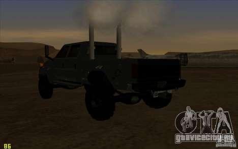 GMC Topkick Ironhide TF3 для GTA San Andreas вид изнутри