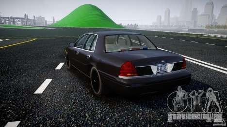 Ford Crown Victoria 2003 v2 FBI для GTA 4 вид сзади слева
