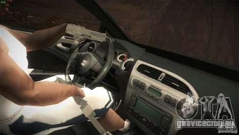 Seat Leon Cupra для GTA San Andreas вид снизу