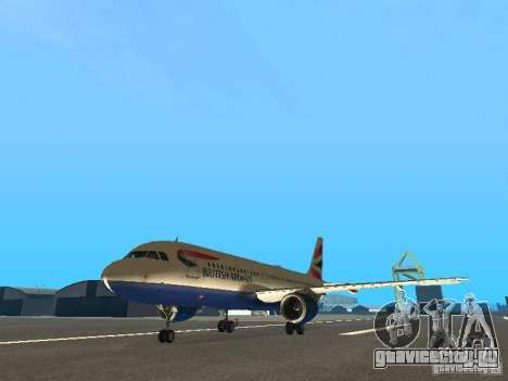 Airbus A320 British Airways для GTA San Andreas