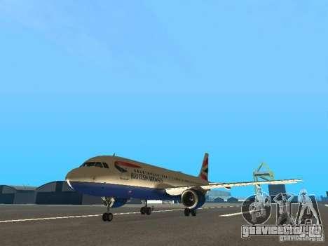 Airbus A320 British Airways для GTA San Andreas