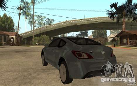 Hyundai Genesis Coupe 2010 для GTA San Andreas вид сзади слева