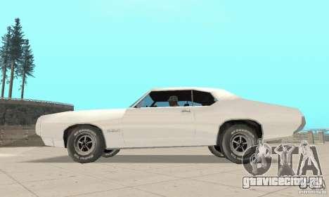 Pontiac GTO 1969 stock для GTA San Andreas вид справа