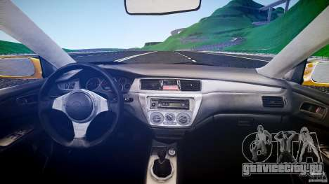 Mitsubishi Lancer Evolution для GTA 4 вид справа