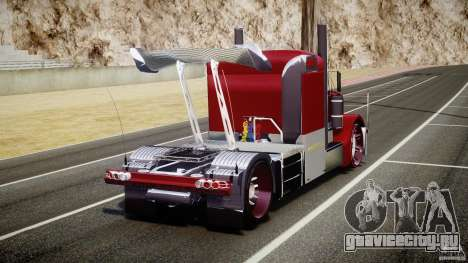 Peterbilt Sport Truck Custom для GTA 4 вид сзади слева