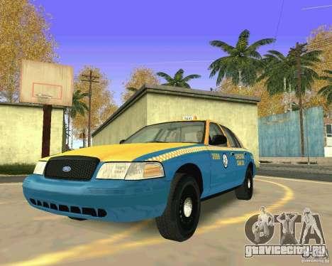 Ford Crown Victoria 2003 Taxi Cab для GTA San Andreas вид сзади