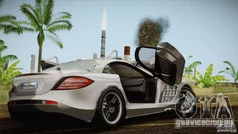 Mercedes SLR McLaren 722 Edition Final для GTA San Andreas вид изнутри