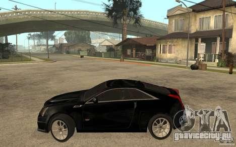 Cadillac CTS V Coupe 2011 для GTA San Andreas вид слева