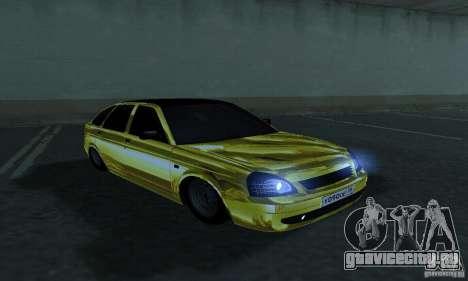Lada Priora Gold для GTA San Andreas вид справа