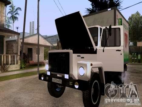 ГАЗ 3309 для GTA San Andreas вид изнутри