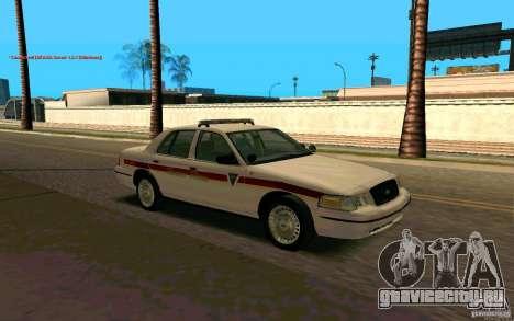Ford Crown Victoria South Dakota Police для GTA San Andreas вид справа