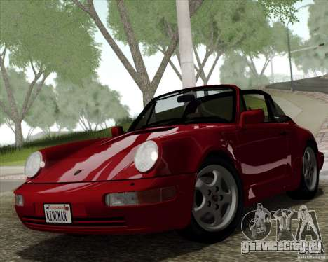 Porsche 911 Carrera 4 Targa (964) 1989 для GTA San Andreas вид изнутри