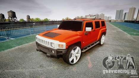 Hummer H3 для GTA 4 вид сзади