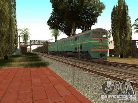2ТЭ10В-3390 для GTA San Andreas вид сзади слева