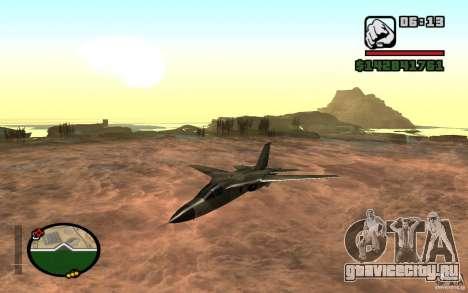 F-111 Aardvark для GTA San Andreas вид слева