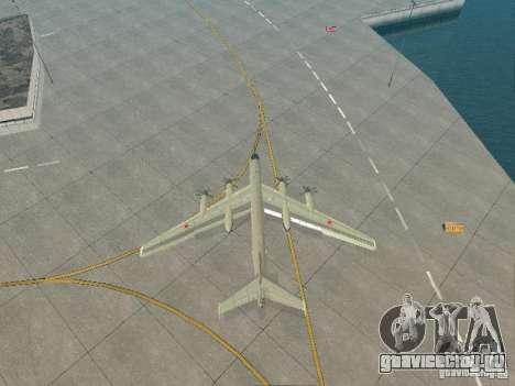 Ту-95 для GTA San Andreas вид сзади