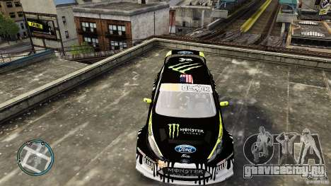 Ken Block Ford Fiesta 2011 для GTA 4 вид справа