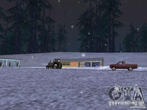Снег для GTA San Andreas шестой скриншот