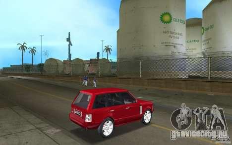 Range Rover Vogue 2003 для GTA Vice City вид справа