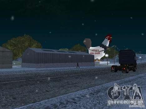 Снег для GTA San Andreas пятый скриншот