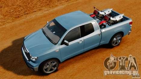 Toyota Tundra 2011 для GTA 4 вид справа