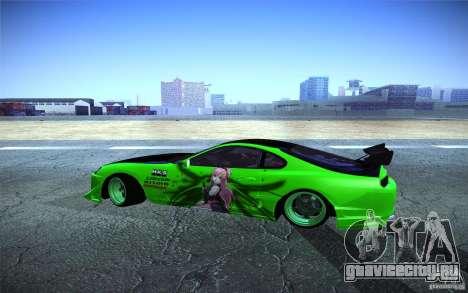 Toyota Supra Tuned для GTA San Andreas вид слева