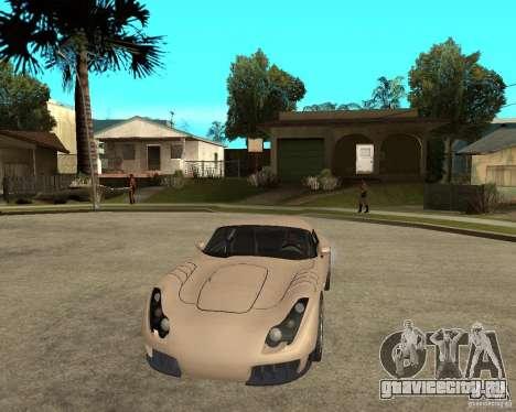 TVR Sagaris для GTA San Andreas вид сзади